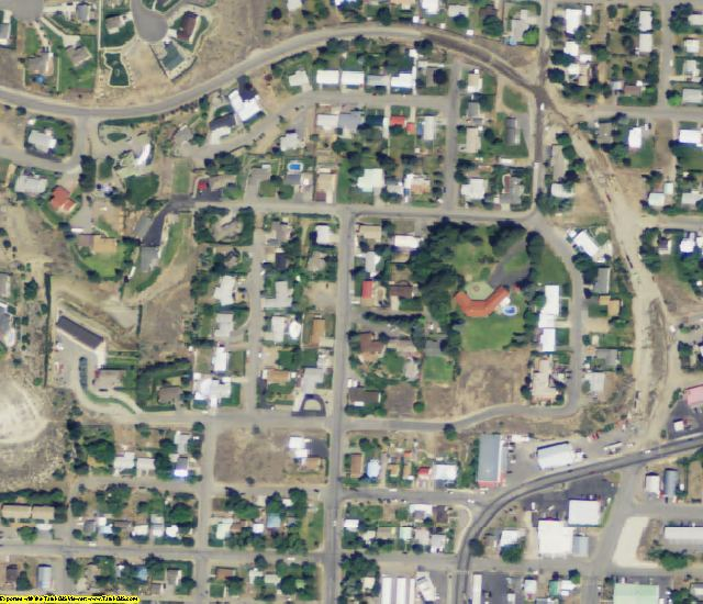 Okanogan County, WA aerial photography detail