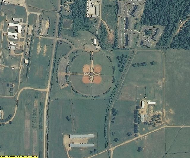 Oktibbeha County, MS aerial photography detail
