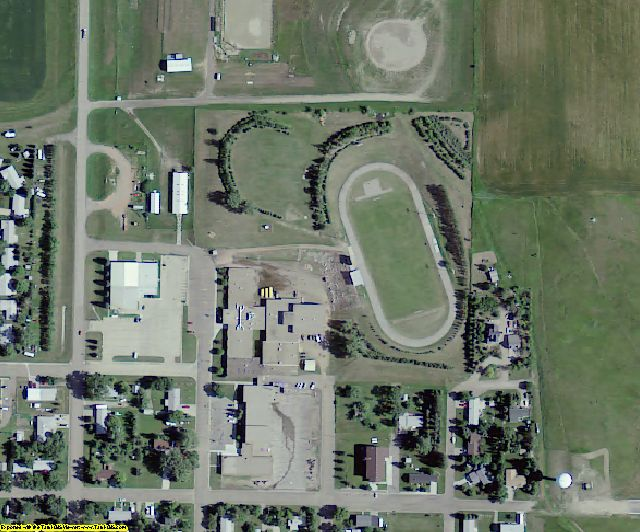 Oliver County, ND aerial photography detail