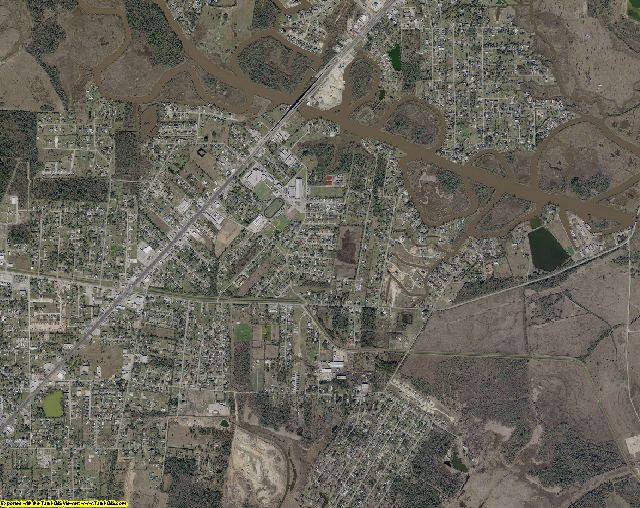 Orange County, Texas aerial photography