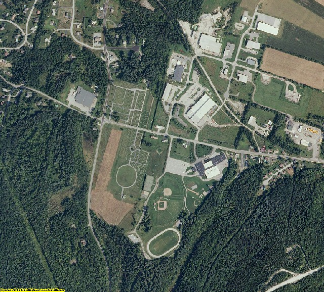 Orange County, VT aerial photography detail