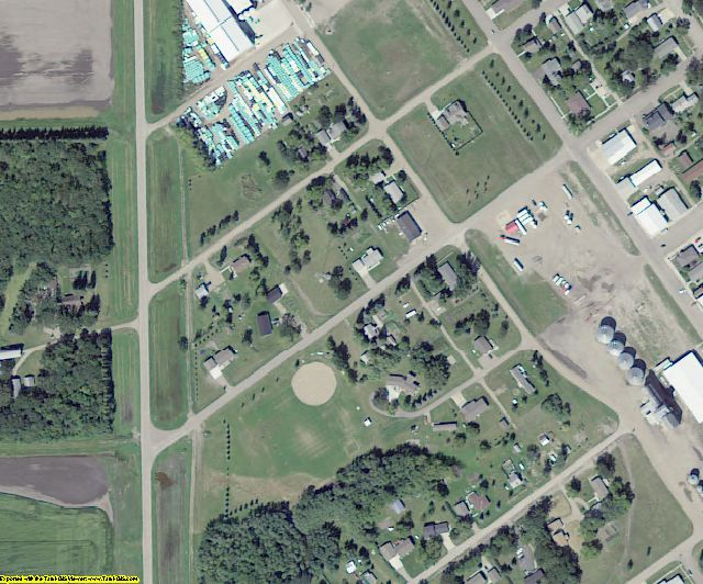 Pembina County, ND aerial photography detail