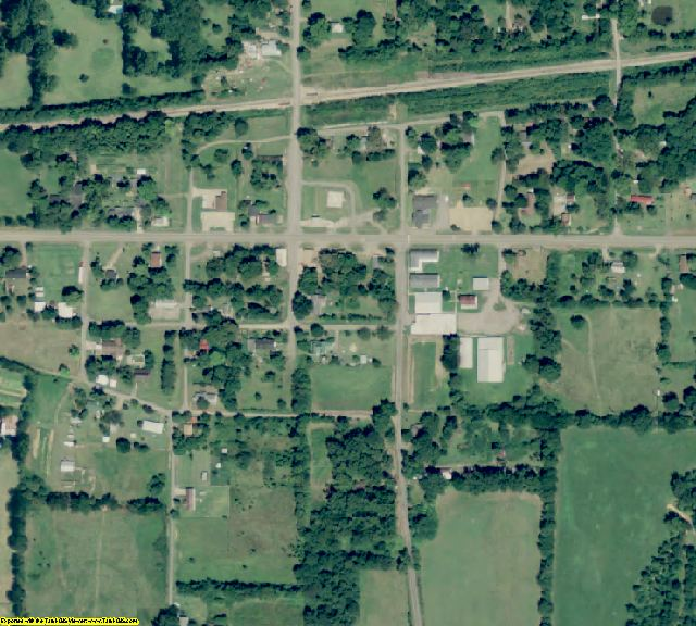 Perry County, AR aerial photography detail