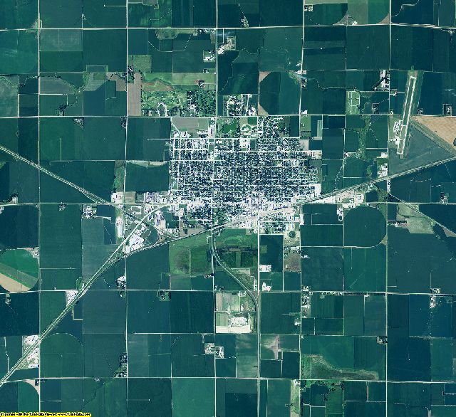 Phelps County, Nebraska aerial photography