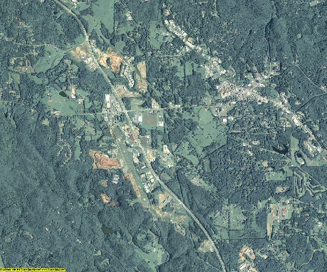 Pickens County, Georgia aerial photography