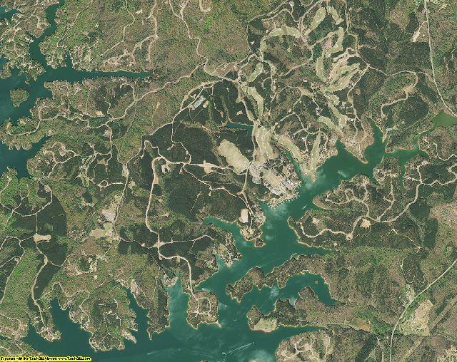 Pickens County, South Carolina aerial photography