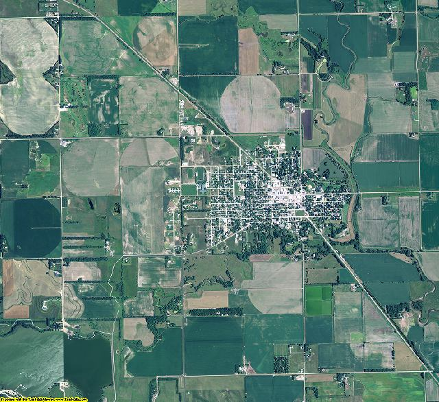 Pierce County, Nebraska aerial photography