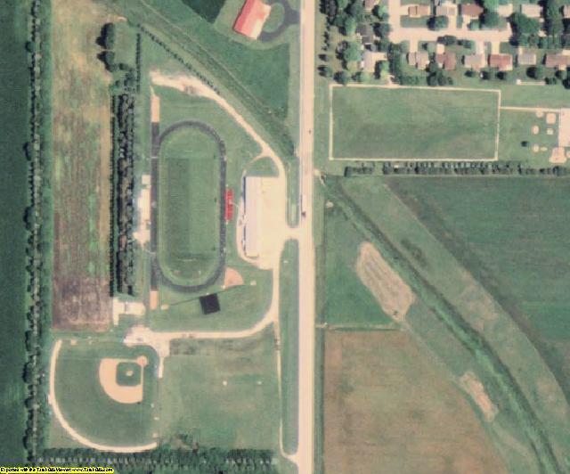 Pocahontas County, IA aerial photography detail
