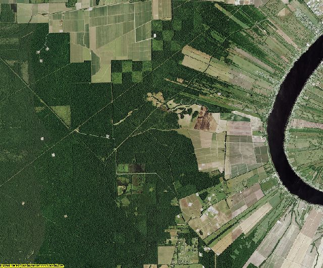 Pointe Coupee County, Louisiana aerial photography