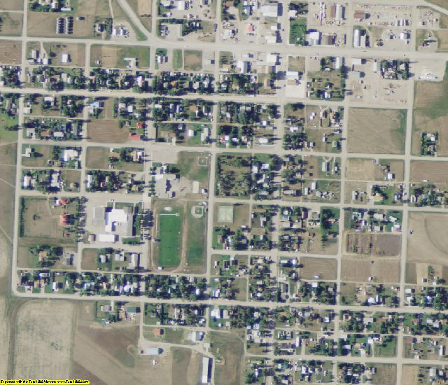 Pondera County, MT aerial photography detail