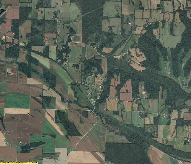 Pope County, Illinois aerial photography