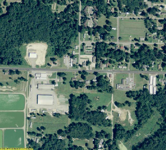 Prairie County, AR aerial photography detail