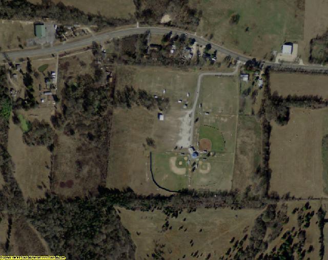 Rains County, TX aerial photography detail