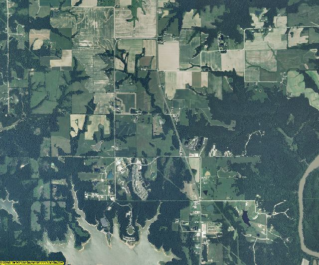 Ralls County, Missouri aerial photography