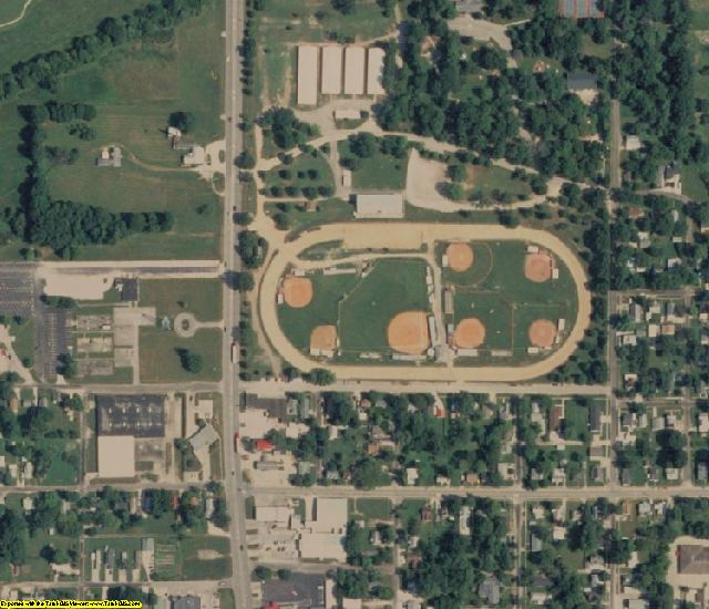 Richland County, IL aerial photography detail
