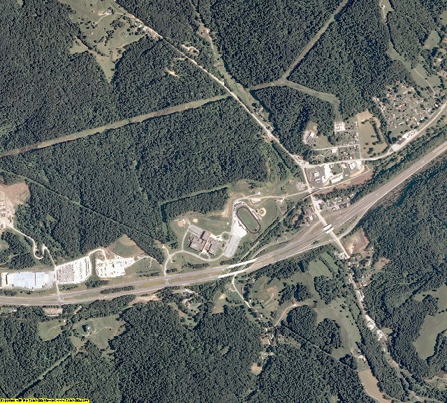Ritchie County, West Virginia aerial photography