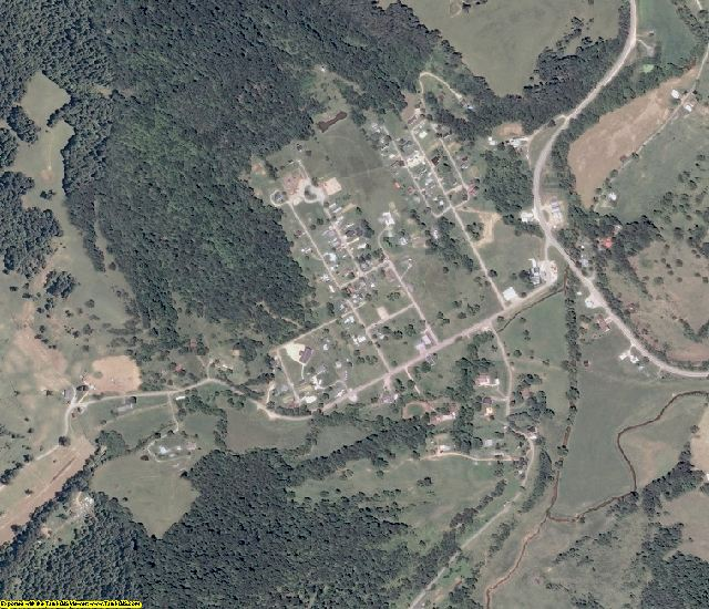 Roane County, WV aerial photography detail