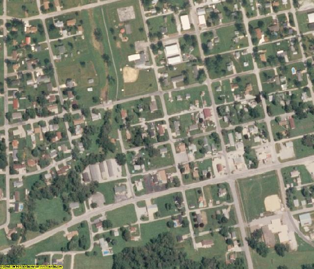 Rock Island County, IL aerial photography detail