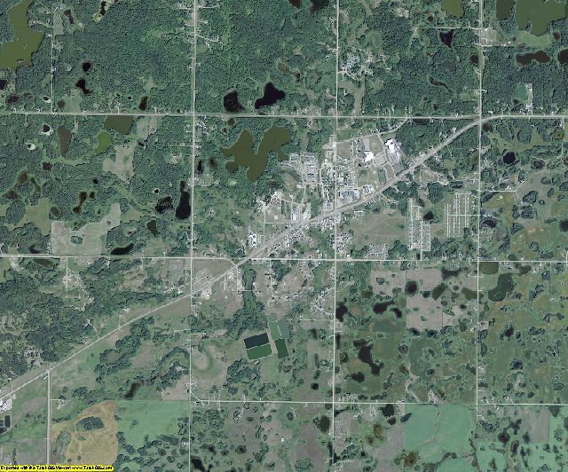 Rolette County, North Dakota aerial photography