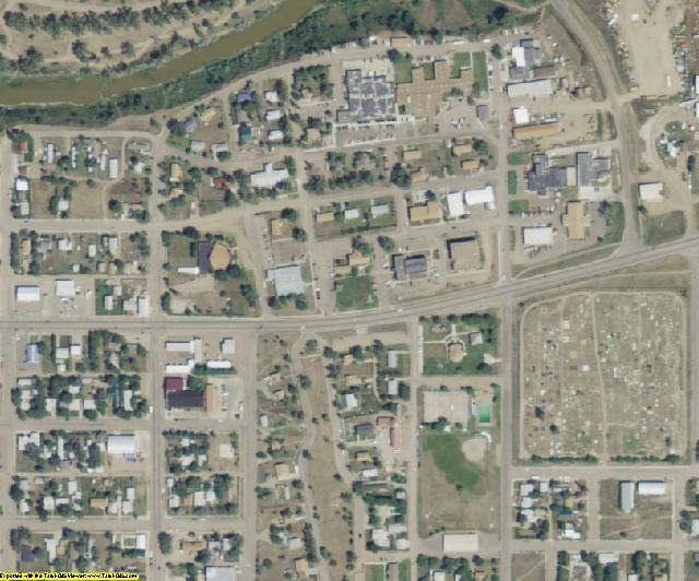 Roosevelt County, MT aerial photography detail