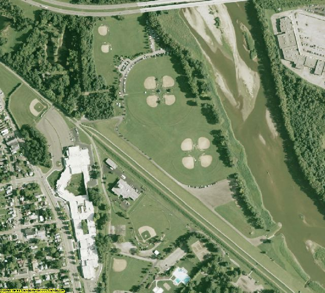 Ross County, OH aerial photography detail