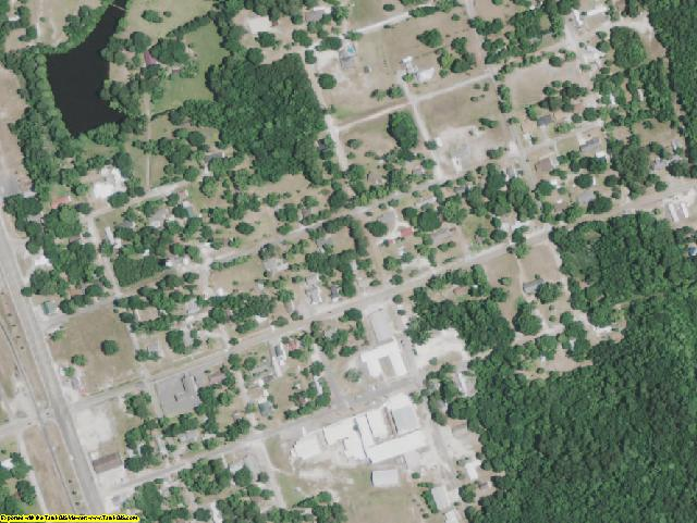 Sabine County, LA aerial photography detail