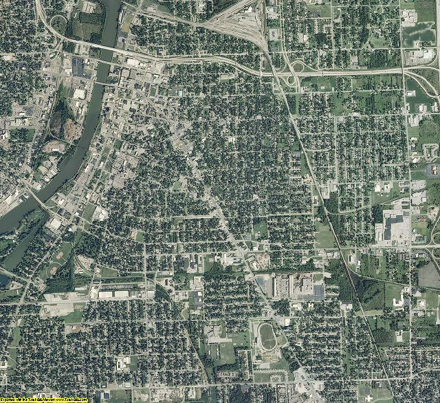 Saginaw County, Michigan aerial photography