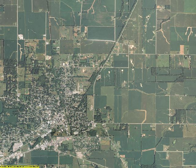Saline County, Illinois aerial photography