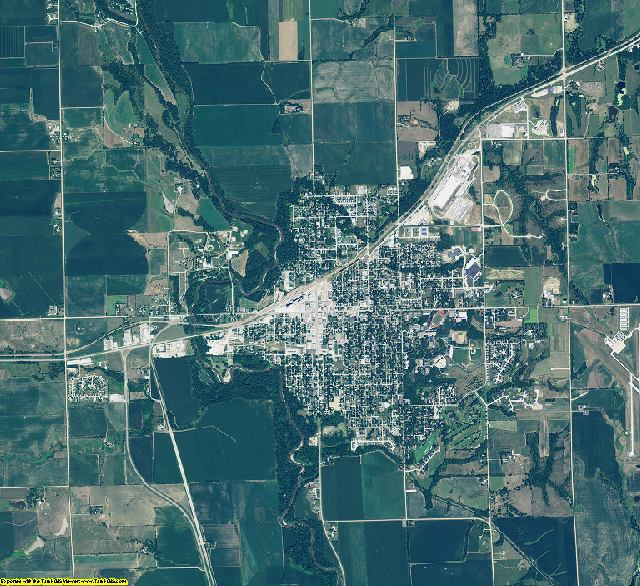 Saline County, Nebraska aerial photography