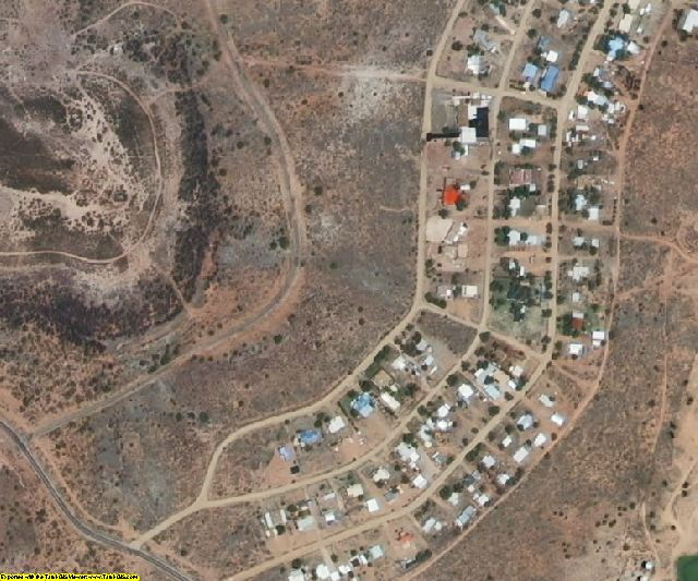 San Miguel County, NM aerial photography detail