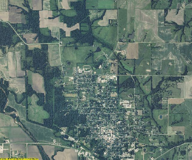 Scotland County, Missouri aerial photography