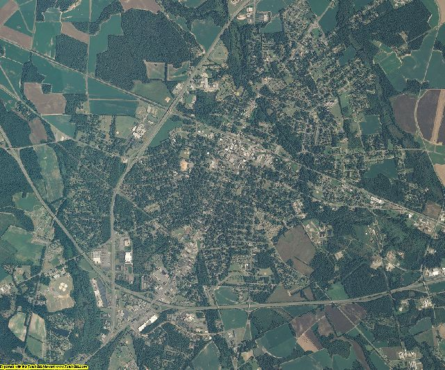 Scotland County, North Carolina aerial photography