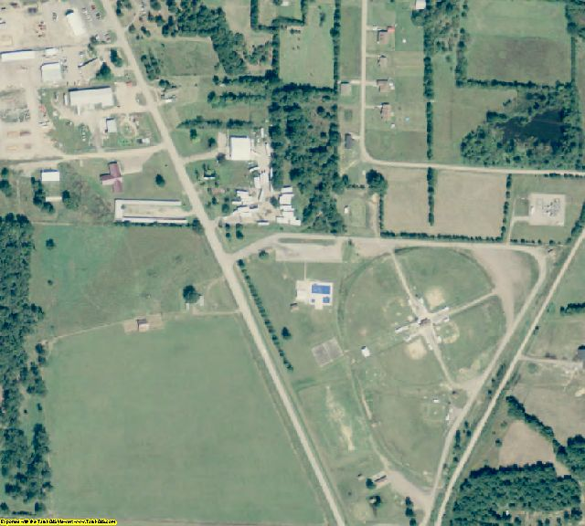 Scott County, AR aerial photography detail