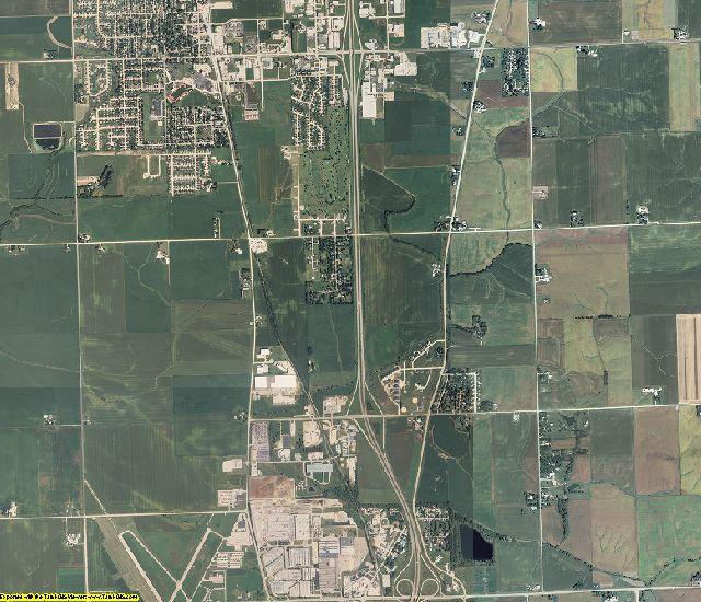Scott County, Iowa aerial photography