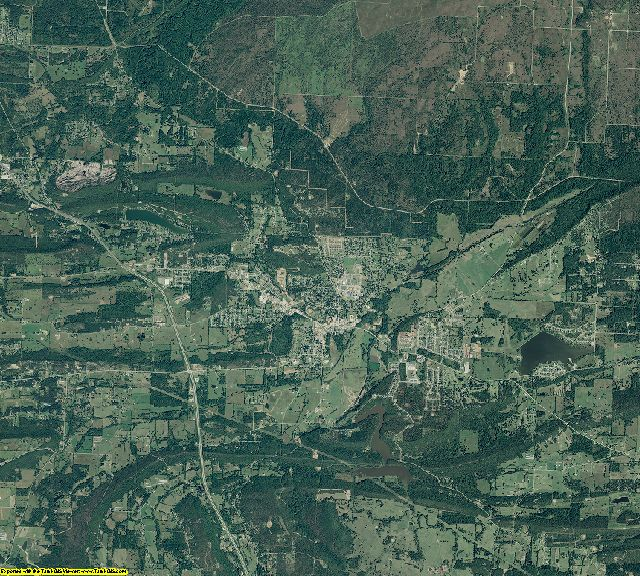 Sebastian County, Arkansas aerial photography
