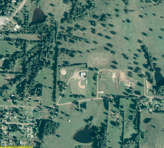 Sevier County, AR aerial photography detail