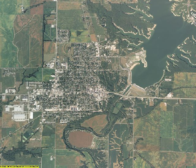 Shelby County, Illinois aerial photography