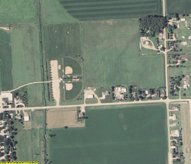 Sioux County, IA aerial photography detail