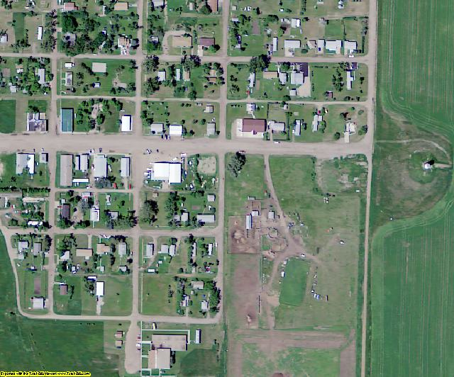 Sioux County, ND aerial photography detail