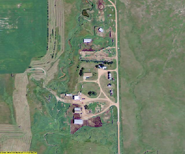 Slope County, ND aerial photography detail