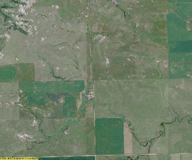 Slope County, North Dakota aerial photography