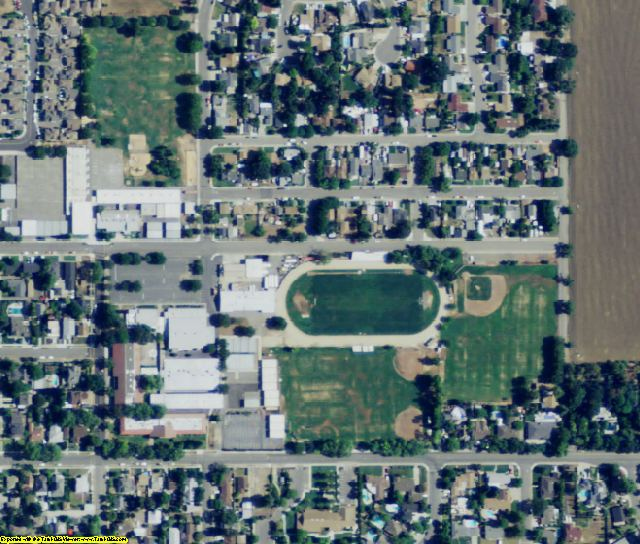 Solano County, CA aerial photography detail