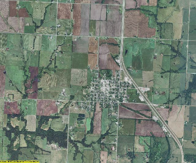 St. Clair County, Missouri aerial photography
