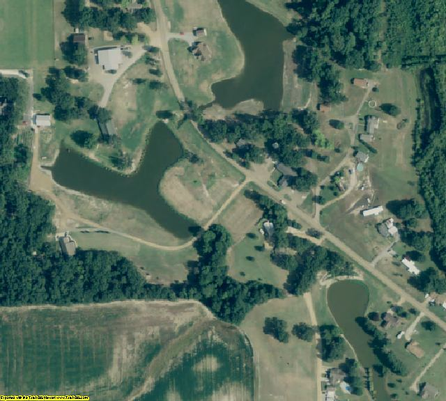 St. Francis County, AR aerial photography detail