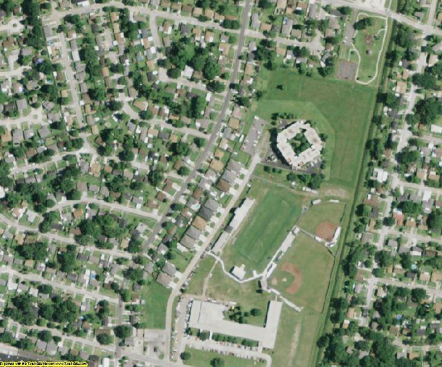 St. John the Baptist County, LA aerial photography detail