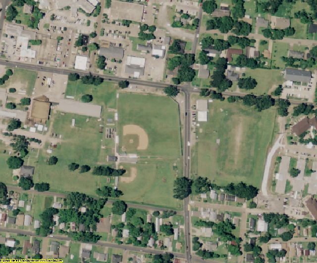 St. Landry County, LA aerial photography detail