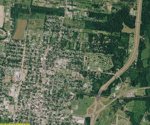 St. Landry County, Louisiana aerial photography