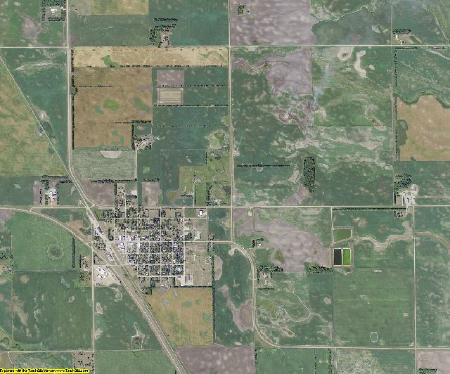 Steele County, North Dakota aerial photography