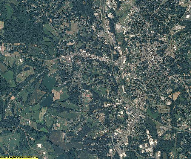 Surry County, North Carolina aerial photography