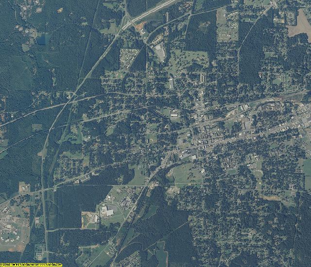 Talladega County, Alabama aerial photography